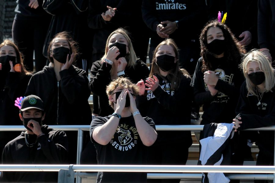 Superfans cheer on football team at home